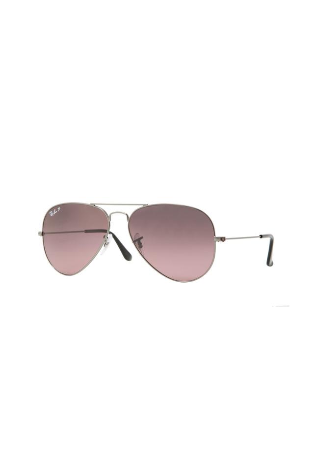 Aviator Large Gunmetal Sunglasses