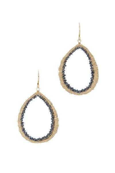 Dana Kellin - Yellow Gold Black Diamond Earrings