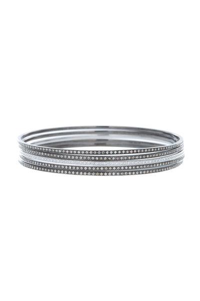 Eclat - Gold Diamond Set Of Five Bangle Bracelets