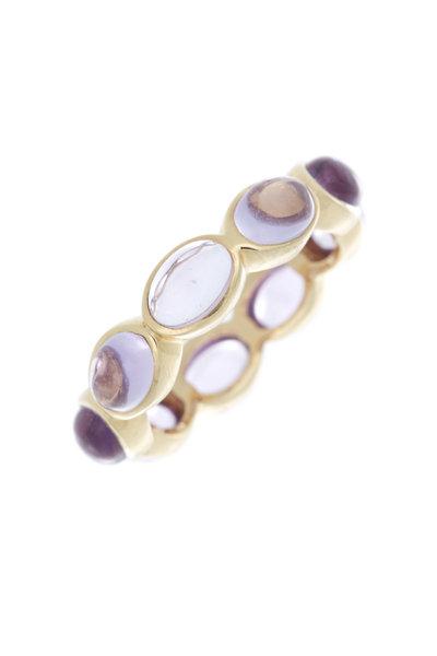 Emily & Ashley - Yellow Gold Pink Amethyst Ring