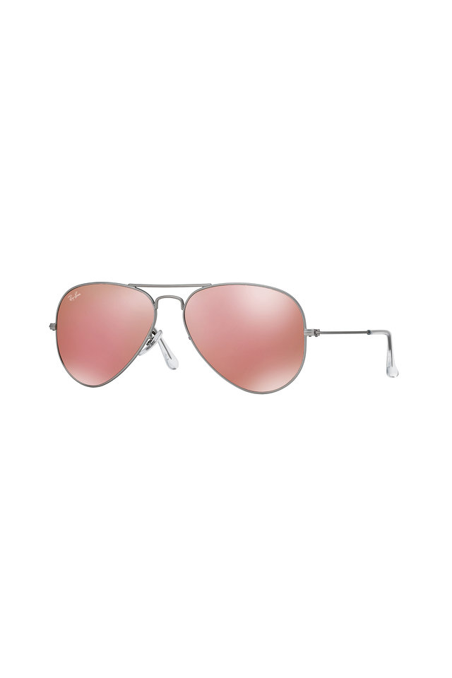 Aviator Silver Pink Mirror Sunglasses