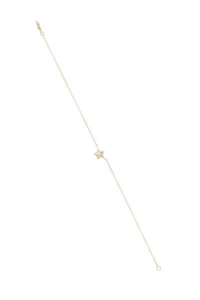 Emily & Ashley - Yellow Gold Star Charm Bracelet