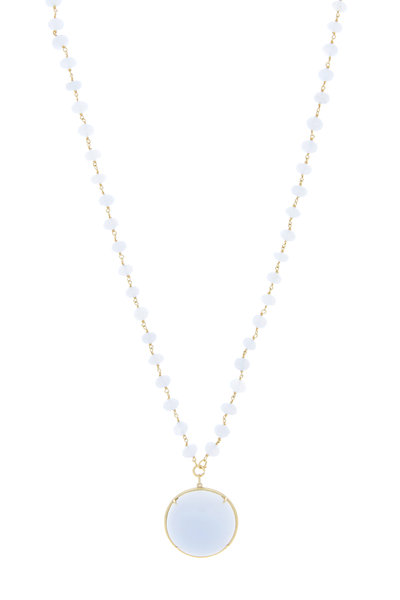 Emily & Ashley - Yellow Gold Chalcedony Necklace