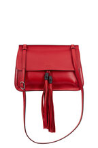 Gucci - Bamboo Daily Red Leather Flap Shoulder Bag