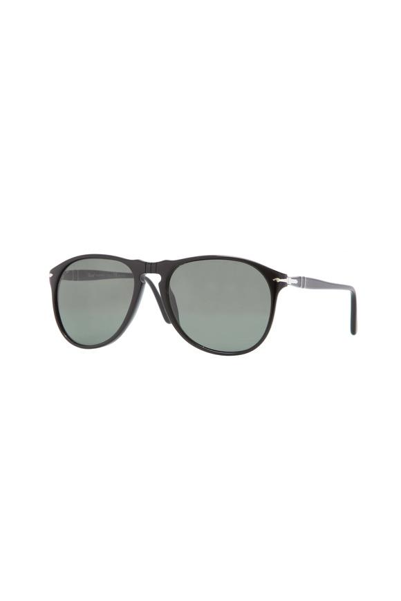 Persol Black Polarized Suprema Pilot Sunglasses