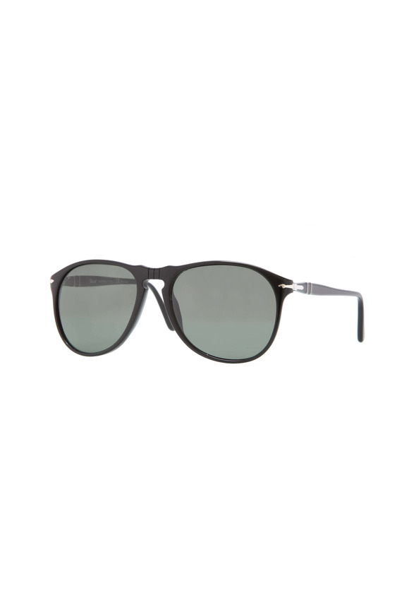 Persol Black Polarized Suprema Pilot Sunglasses