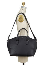 Alexander McQueen - Legend Black Leather Large Dome Satchel Bag