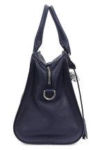 Alexander McQueen - Padlock Navy Blue Leather Small Satchel