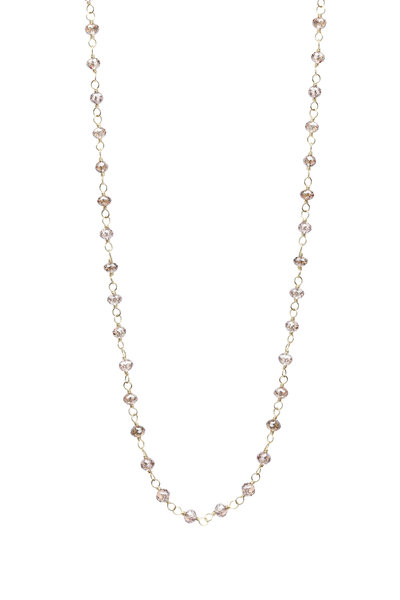 Caroline Ellen - 18K Yellow Gold Cognac Diamond Wrap Necklace