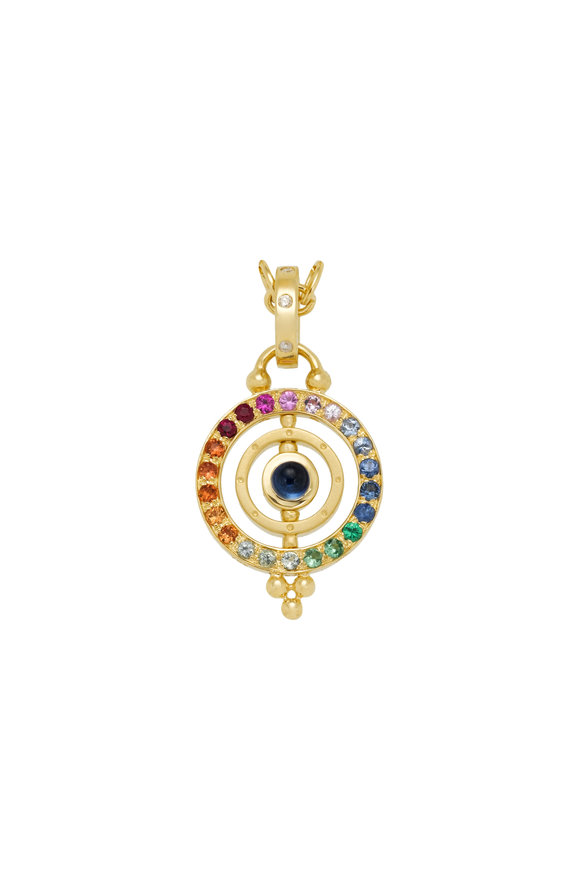 Temple St. Clair Celestial Yellow Gold Sapphire Tolomeo Pendant