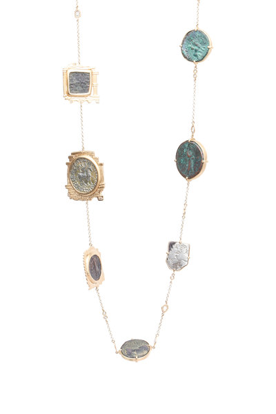 Coomi - Yellow Gold Antique Coin Necklace