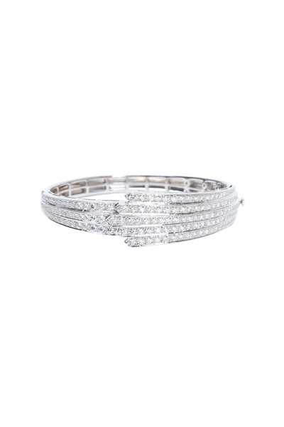 Kwiat - White Gold Diamond Bangle