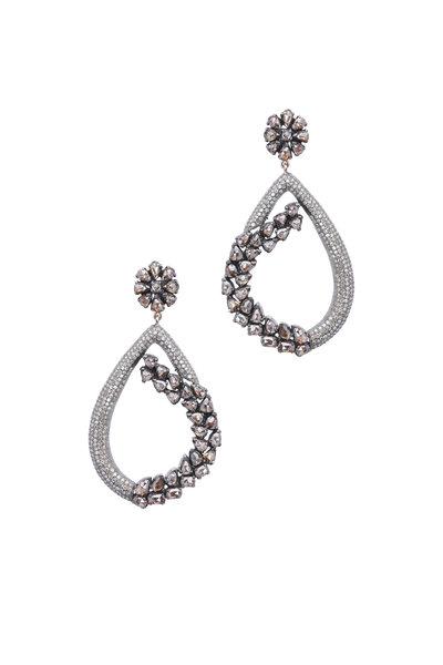 Loren Jewels - 14K Gold & Sterling Silver Diamond Hoops