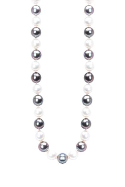 Assael - 18K White Gold Tahitian Pearl Strand Necklace