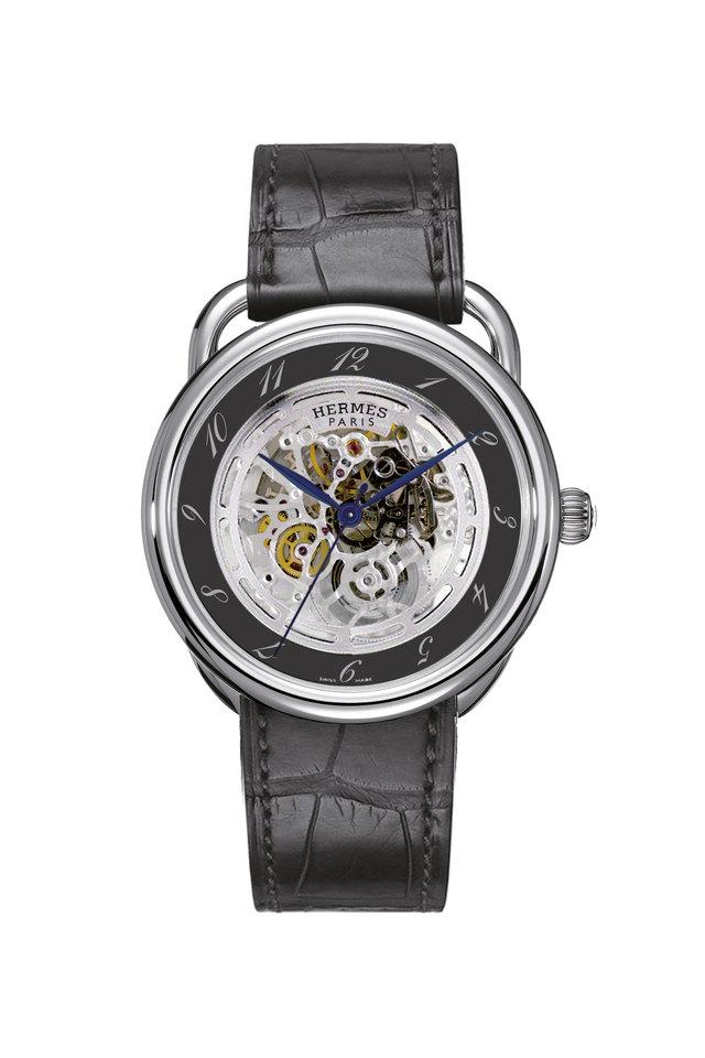Black Skeleton Watch