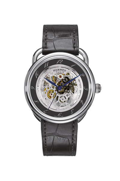 Hermès - Black Skeleton Watch