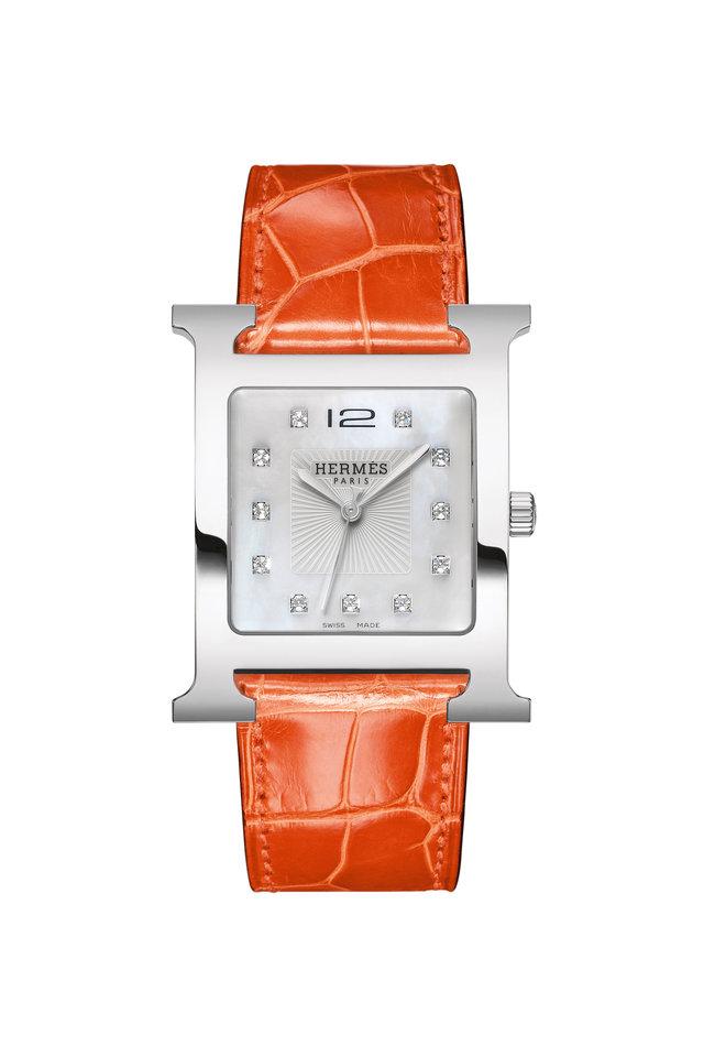 Orange Crocodile Watch