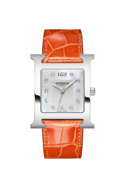 Hermès - Orange Crocodile Watch