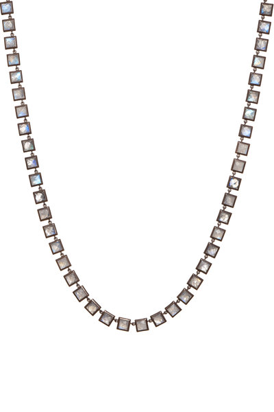 Nak Armstrong - Sterling Silver Rainbow Moonstone Necklace