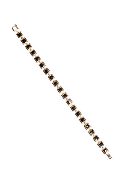 Nak Armstrong - 18K Rose Gold Black Spinel Line Bracelet