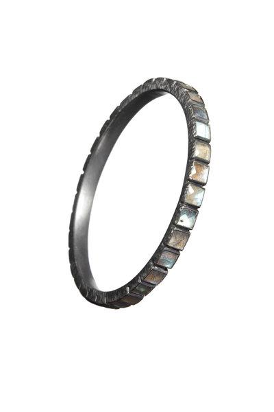 Nak Armstrong - Oxidized Sterling Silver Labradorite Bangle