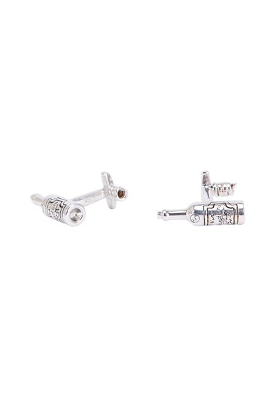 Robin Rotenier - Sterling Silver Wine Bottle Cuff Links