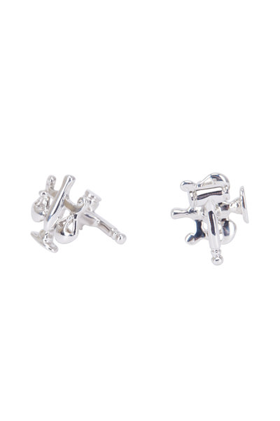 Robin Rotenier - Sterling Silver Scales Of Justice Cuff Links