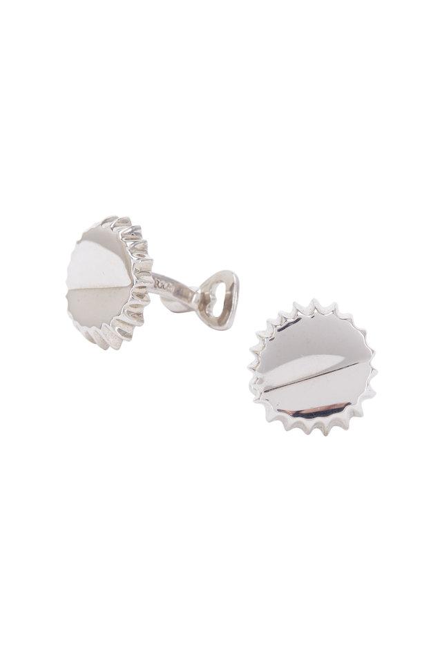 Sterling Silver Bottle Cap & Opener Cuff Links