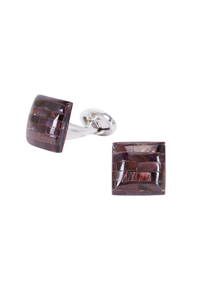 Jan Leslie - Sterling Silver Mother-Of-Pearl Square Cuff Links
