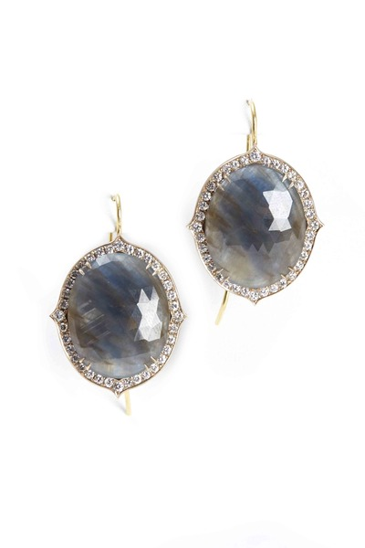 Sylva & Cie - Yellow Gold Oval Sapphire Earrings