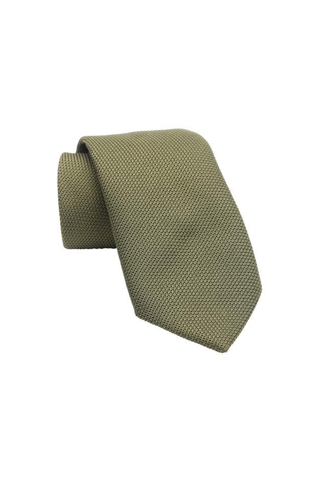 Olive Green Silk Necktie