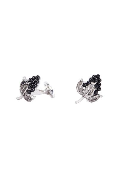 Jan Leslie - Sterling Silver Onyx Grape Cuff Links