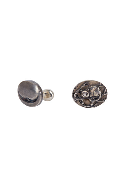 Spivey - Sterling Silver Cheshire Cat Cuff Links