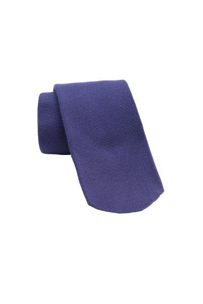 Svevo - Solid Purple Silk Necktie
