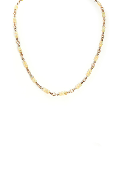 Sylva & Cie - Rose Gold Opal Bead Necklace