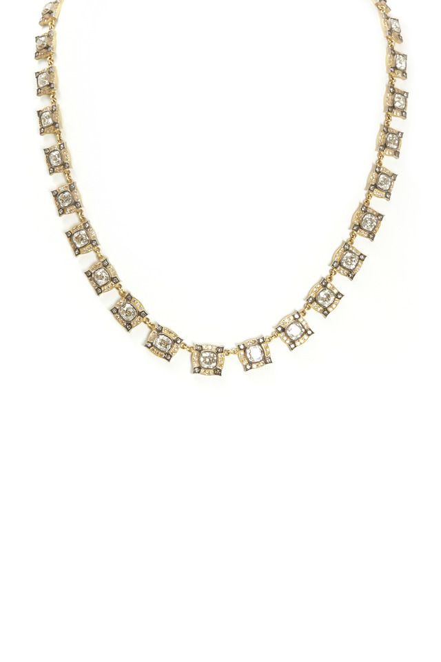 All Around Cushion-Cut Diamond Gold Necklace