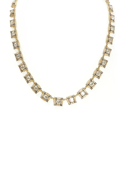 Sylva & Cie - All Around Cushion-Cut Diamond Gold Necklace