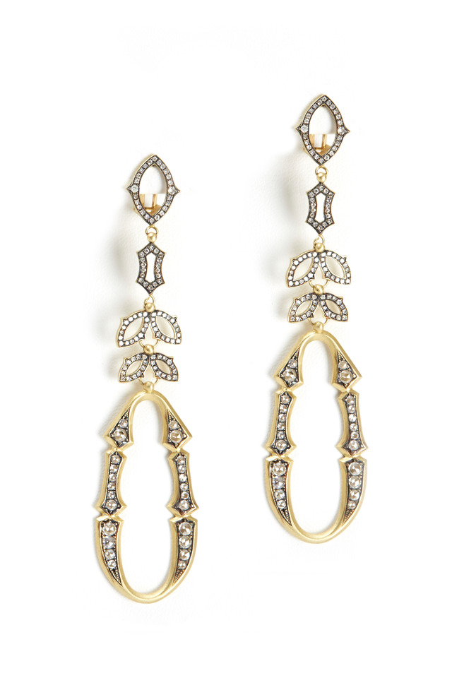 Perfect Bride Yellow Gold Diamond Earrings