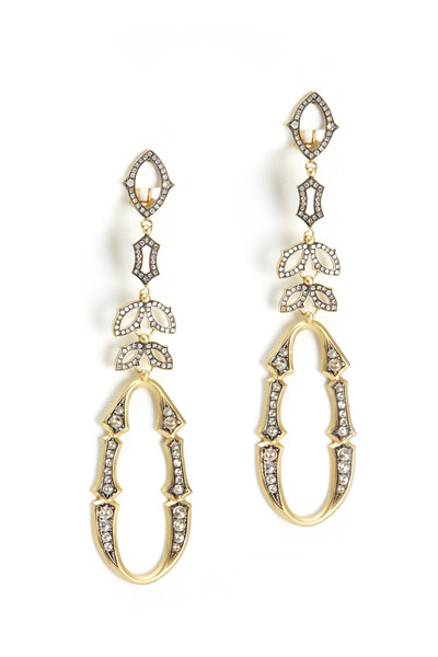Sylva & Cie - Perfect Bride Yellow Gold Diamond Earrings