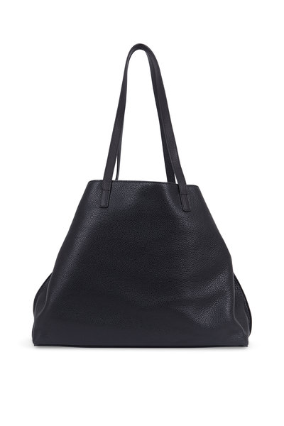 Akris - Alex Black Cervo Leather Medium Tote Bag