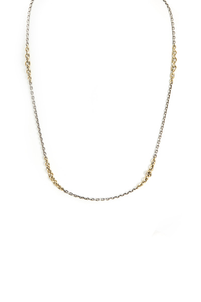 Sylva & Cie - Yellow Gold & Sterling Silver Chain Necklace