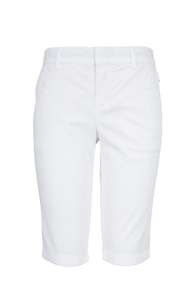 Vince - White Cotton Bermuda Shorts