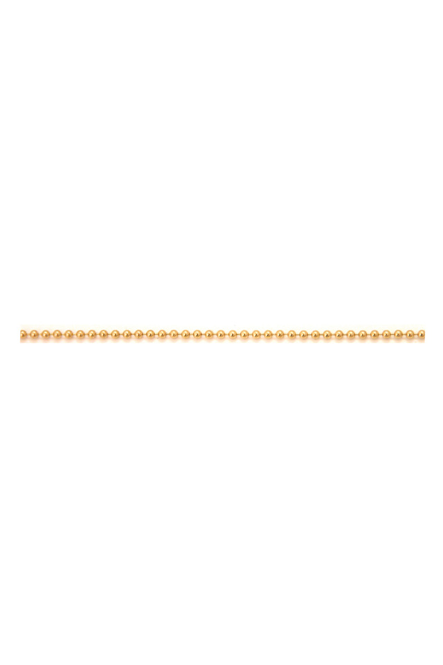 Yellow Gold Ball Chain Necklace