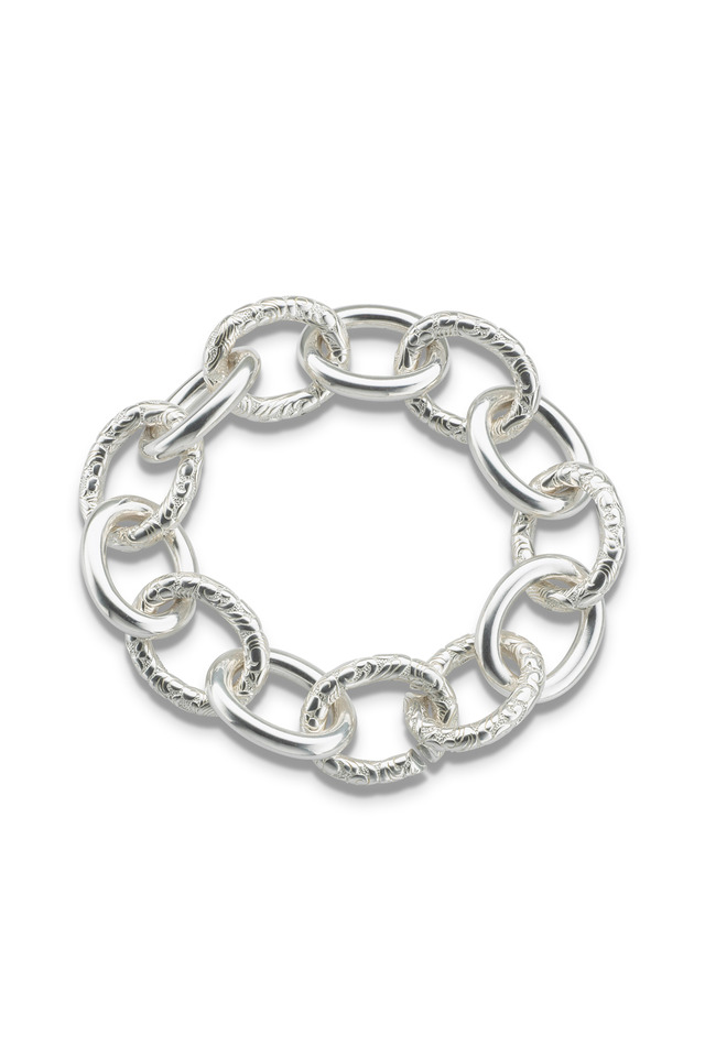 Sterling Silver Link Bracelet, Extra Extra Large