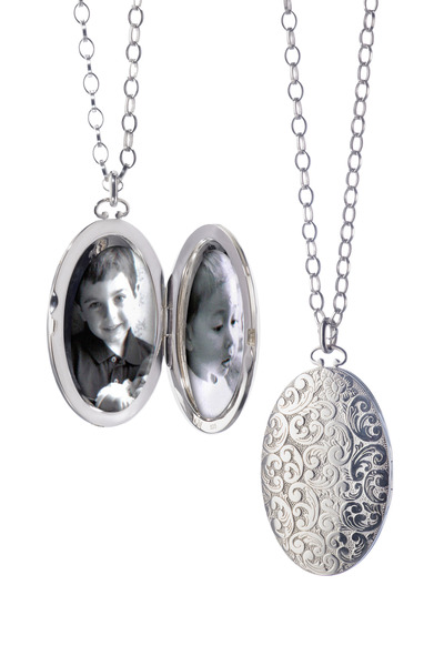 Monica Rich Kosann - Sterling Silver Floral Locket