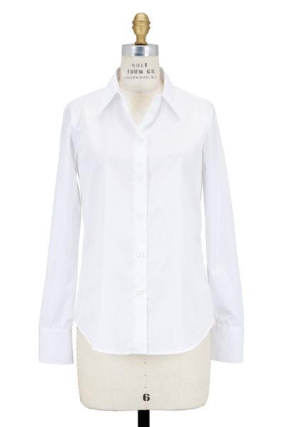 Giorgio Armani - White Cotton Poplin Fitted Blouse