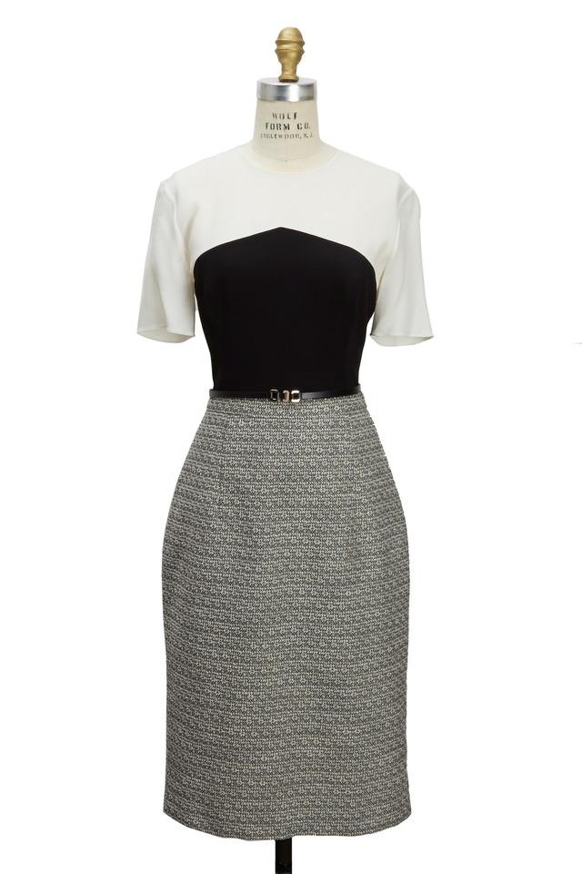 Black & White Tweed Dress