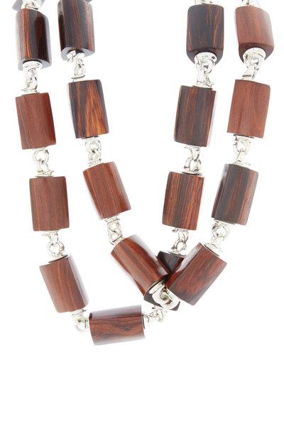 Patricia von Musulin - Sterling Silver Coco Bolo Wood Link Necklace