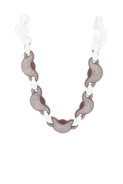 Patricia von Musulin - Sterling Silver Coco Bolo Wood Link Necklace