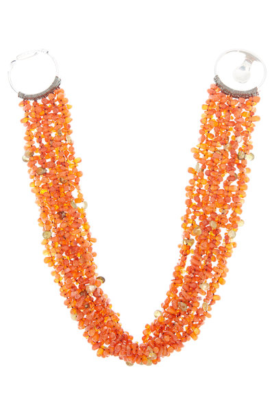 Patricia von Musulin - Sterling Silver Carnelian & Garnet Necklace